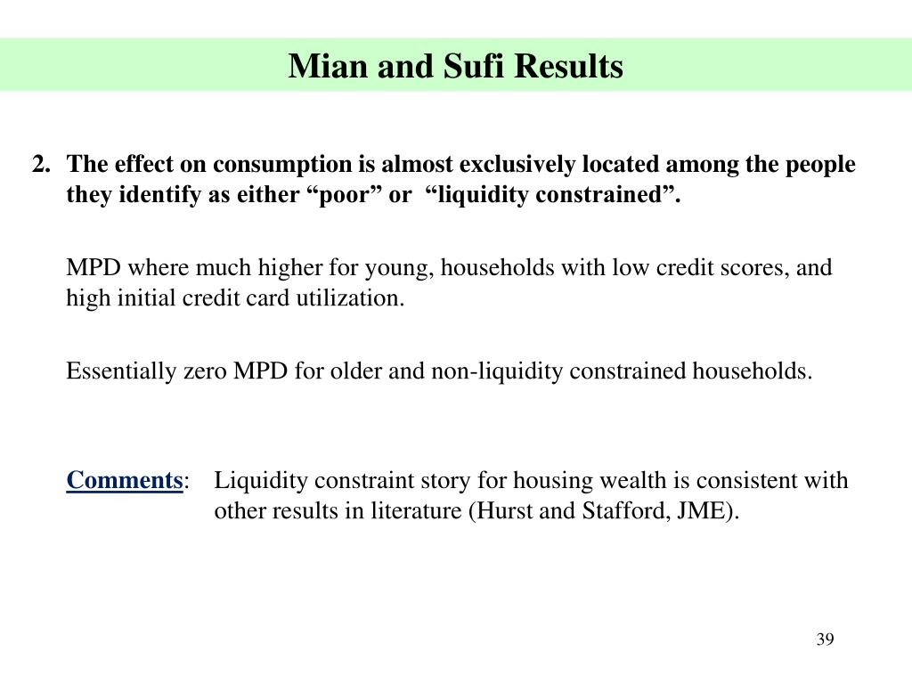 Mian and Sufi Results