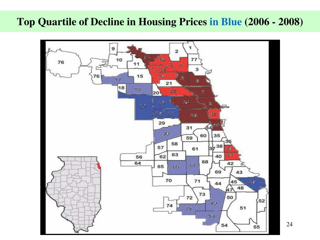 Top Quartile of Decline in Housing Prices