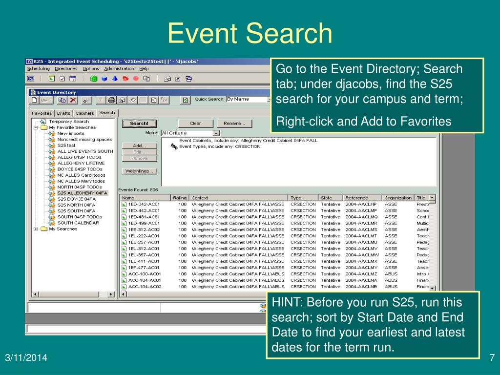 Event Search