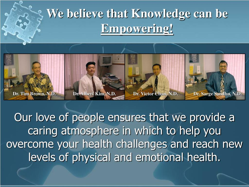 We believe that Knowledge can be