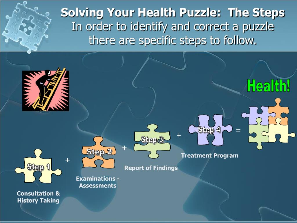 Solving Your Health Puzzle:  The Steps