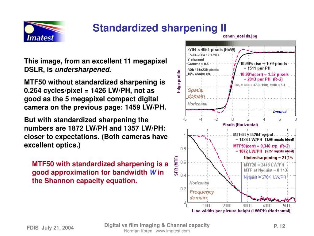 Standardized sharpening II