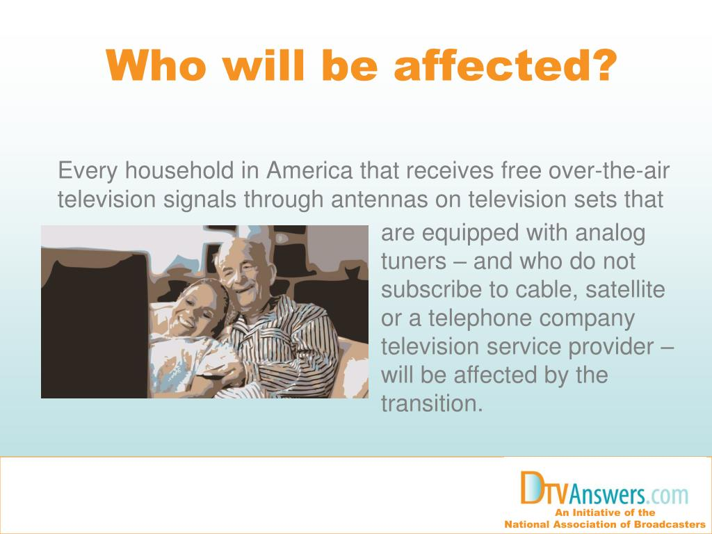 Who will be affected?