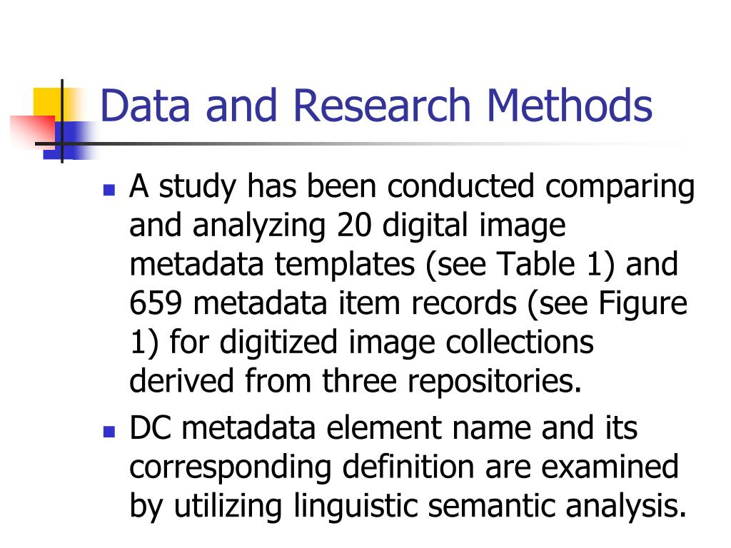 Data and Research Methods