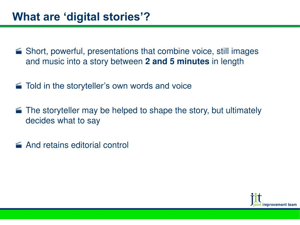What are 'digital stories'?