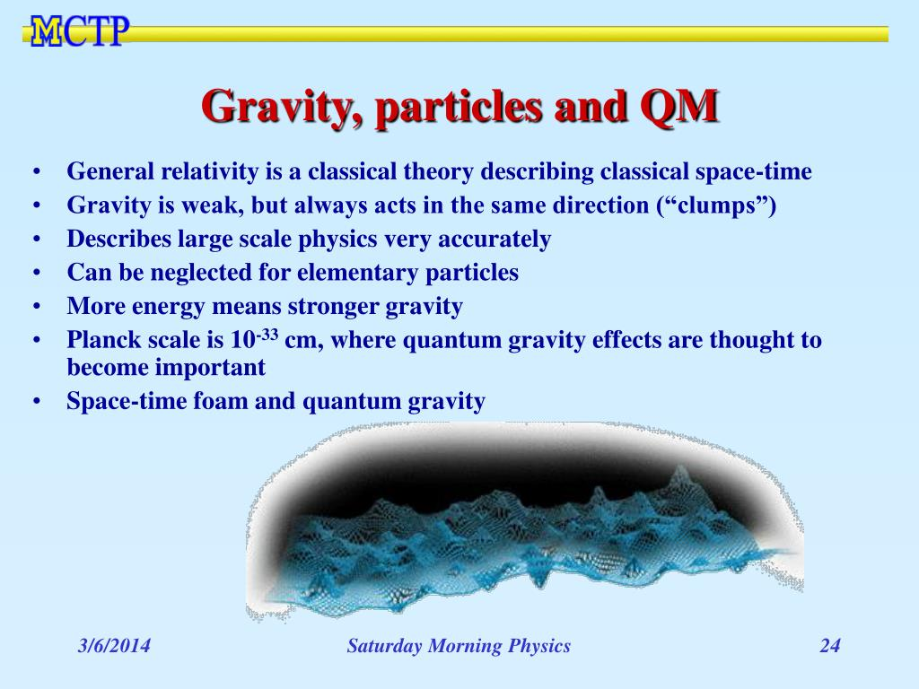 Gravity, particles and QM