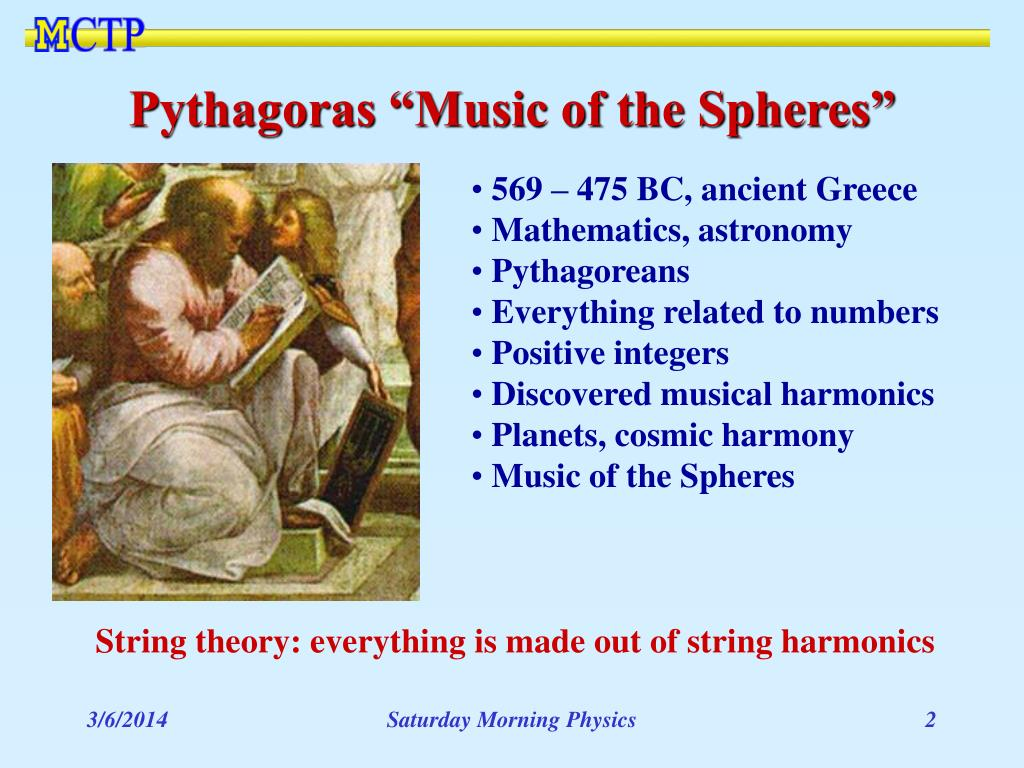 "Pythagoras ""Music of the Spheres"""