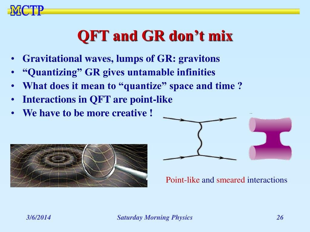 QFT and GR don't mix