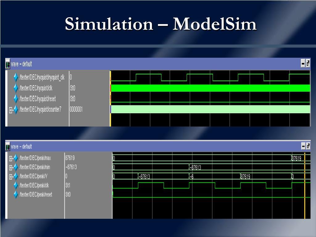 Simulation – ModelSim