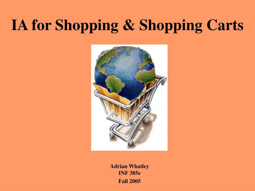 IA for Shopping & Shopping Carts