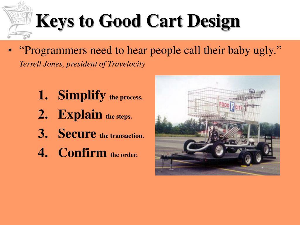 Keys to Good Cart Design