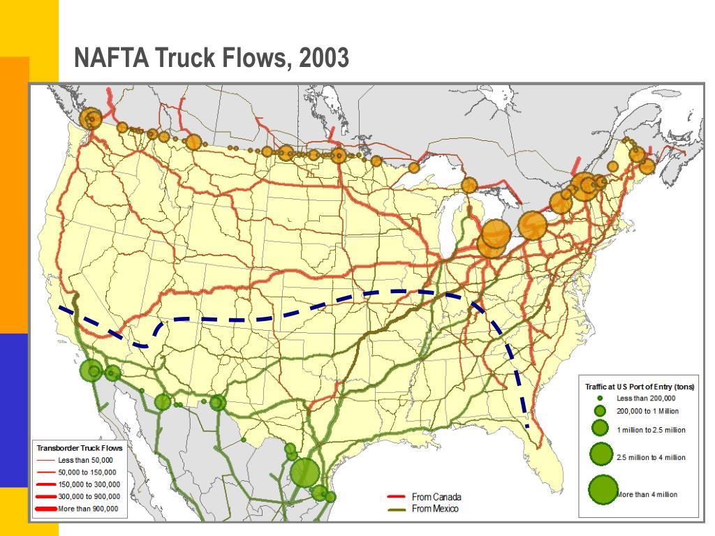 NAFTA Truck Flows, 2003
