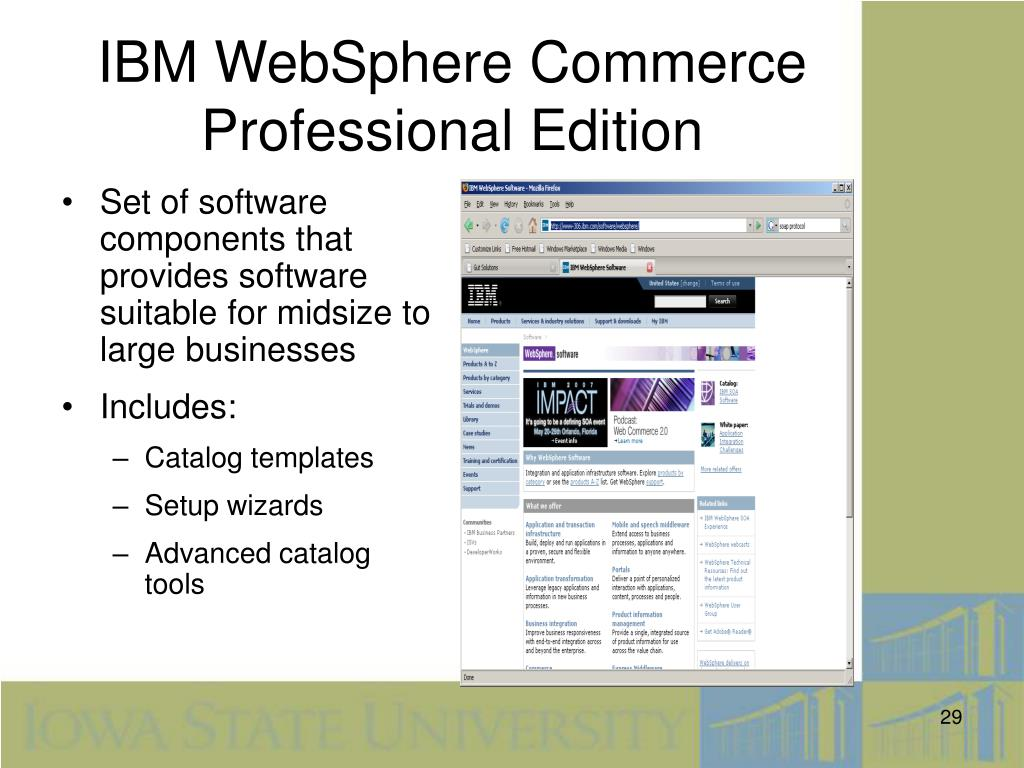 IBM WebSphere Commerce Professional Edition