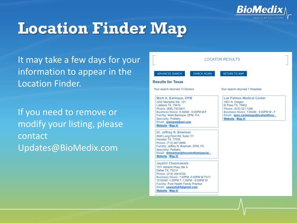 Location Finder Map