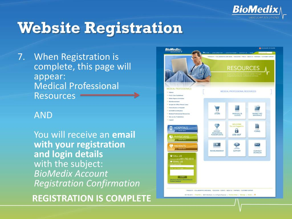 Website Registration