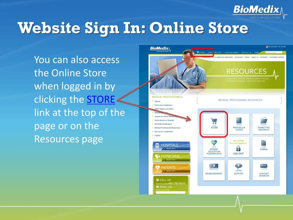 Website Sign In: Online Store