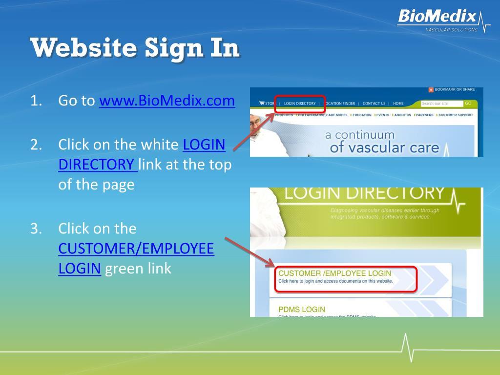 Website Sign In