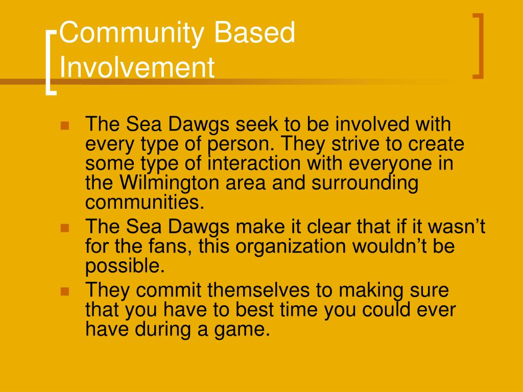 Community Based Involvement