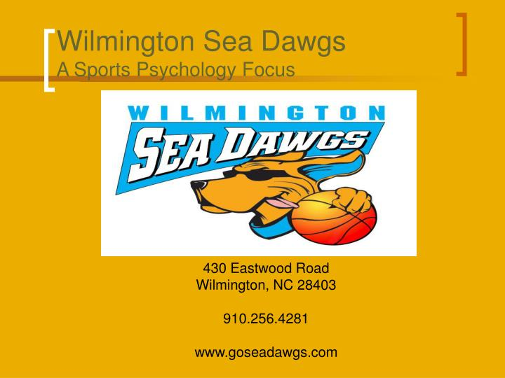 Wilmington sea dawgs a sports psychology focus