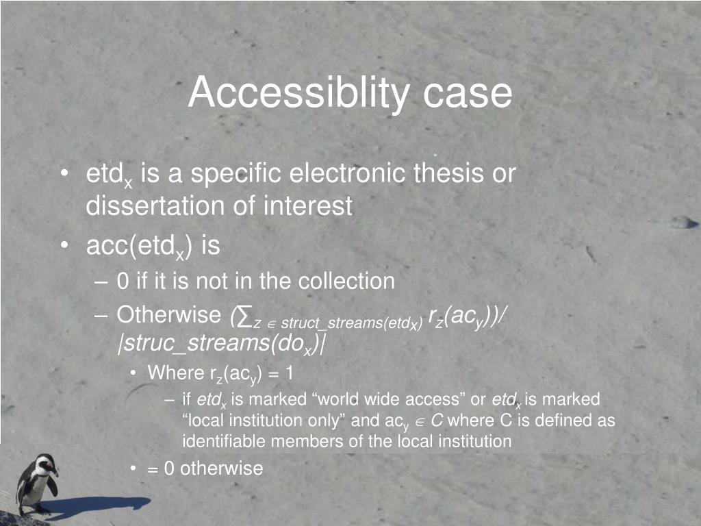 Accessiblity case