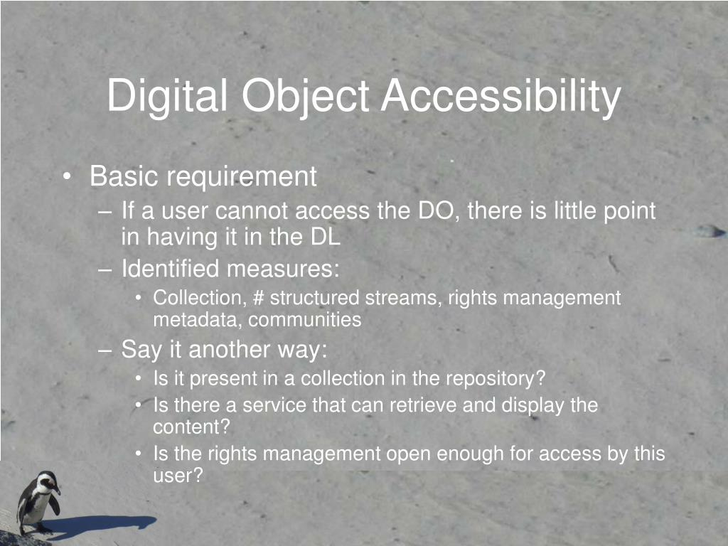 Digital Object Accessibility