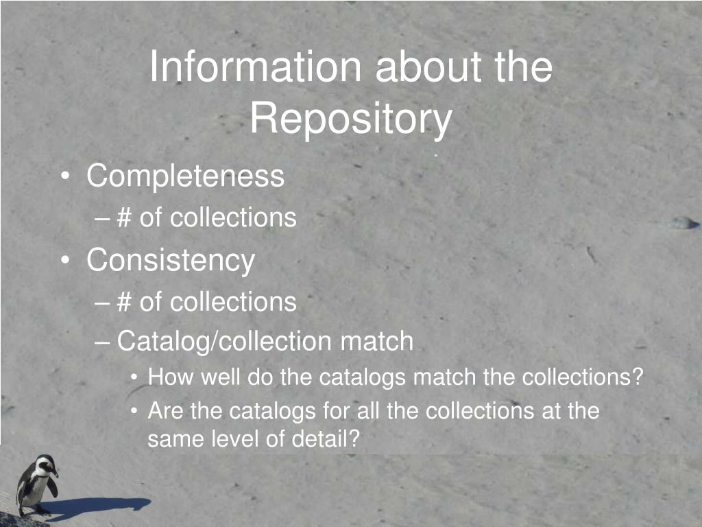 Information about the Repository
