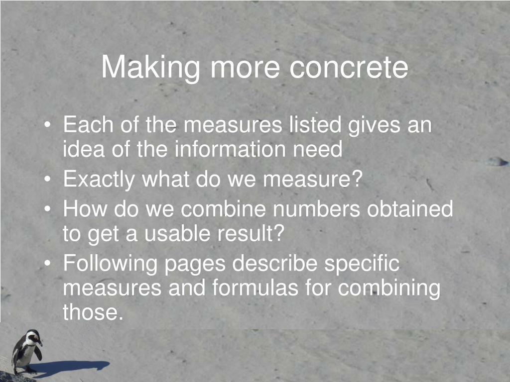 Making more concrete