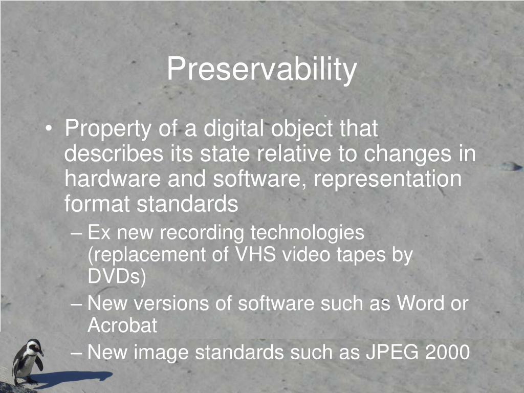Preservability