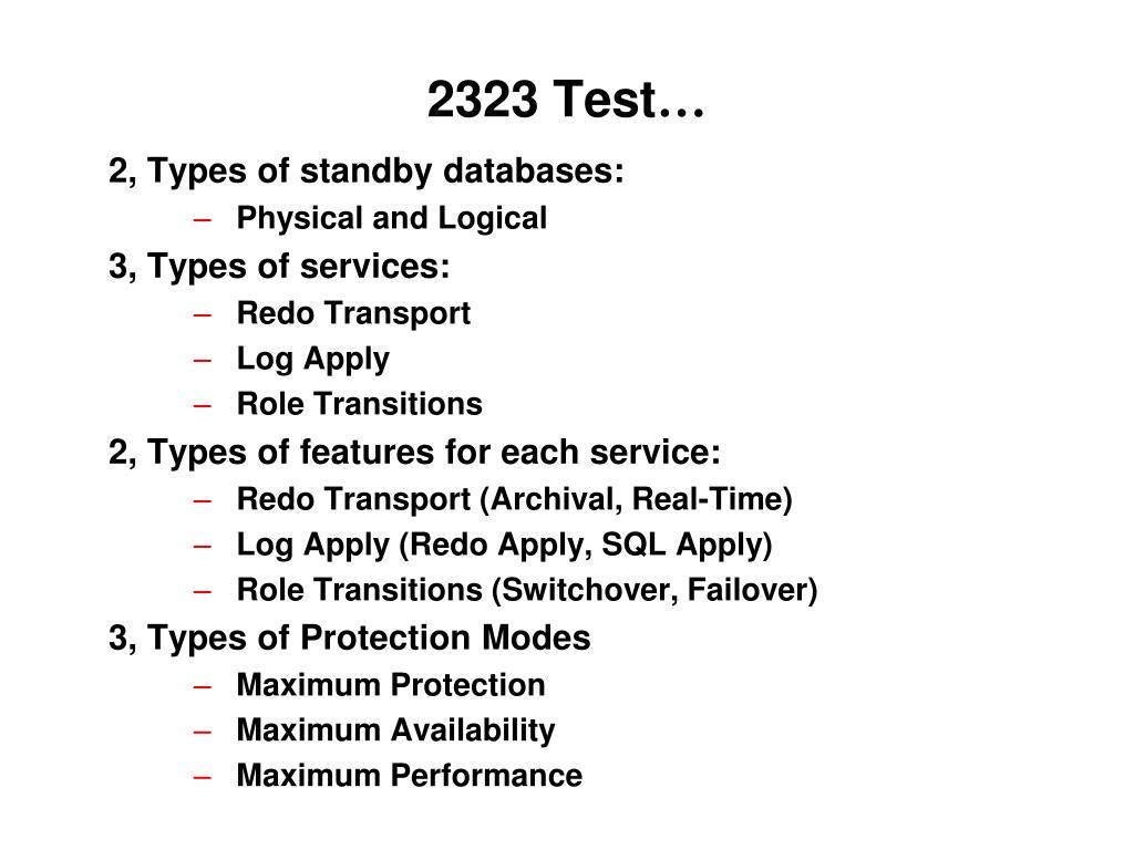 2323 Test