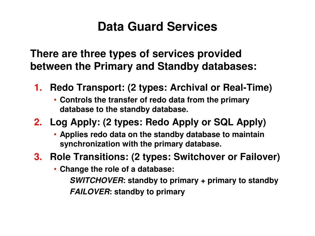 Data Guard Services