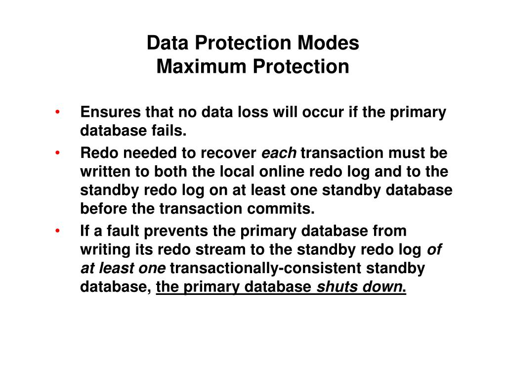 Data Protection Modes