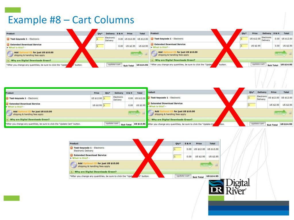 Example #8 – Cart Columns
