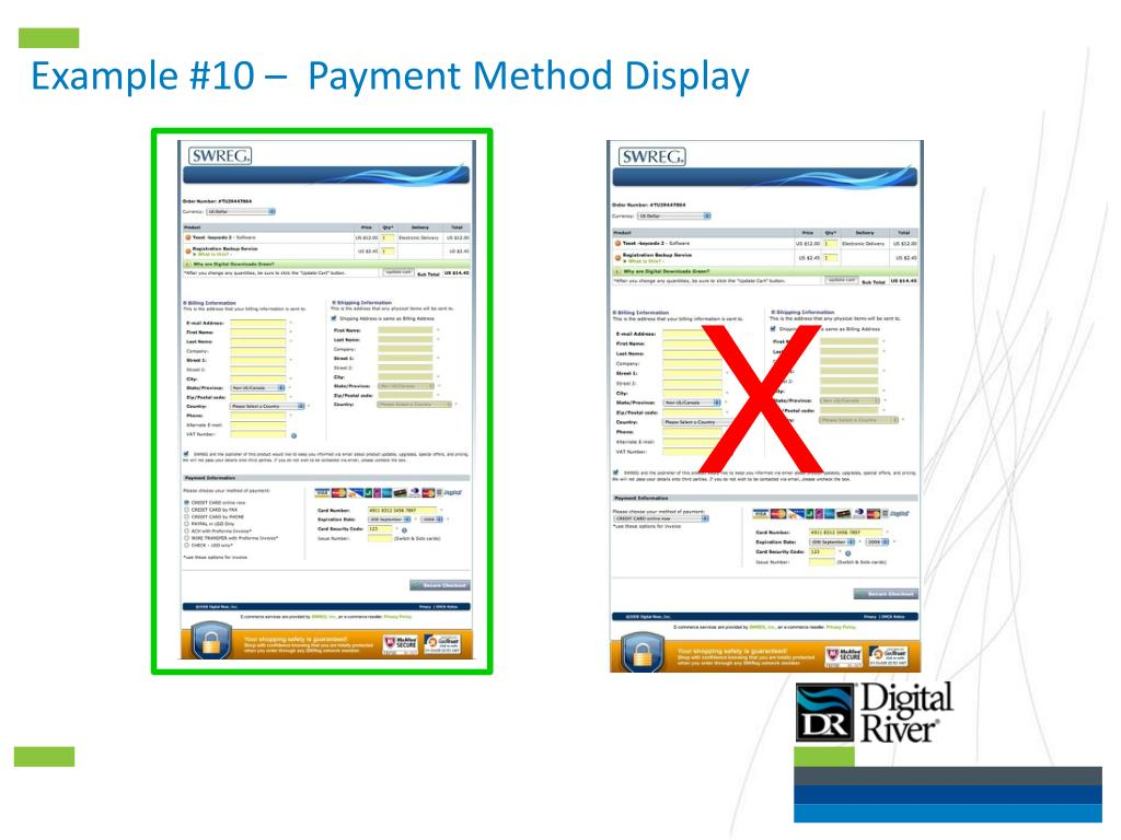 Example #10 –  Payment Method Display