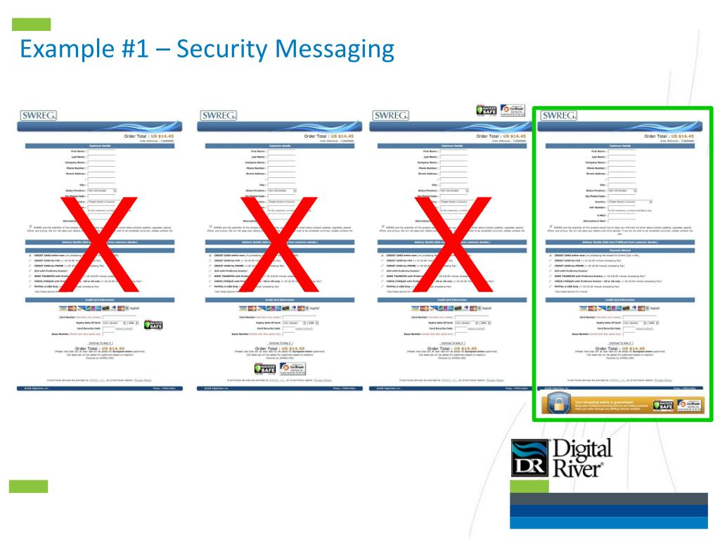 Example #1 – Security Messaging