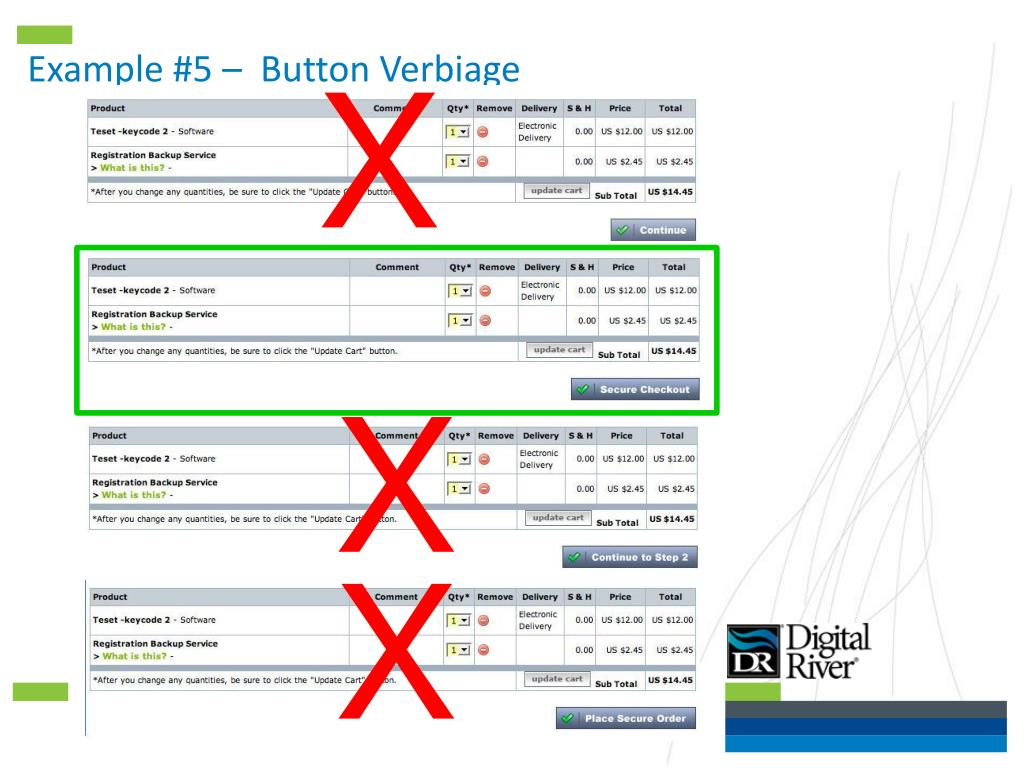 Example #5 –  Button Verbiage