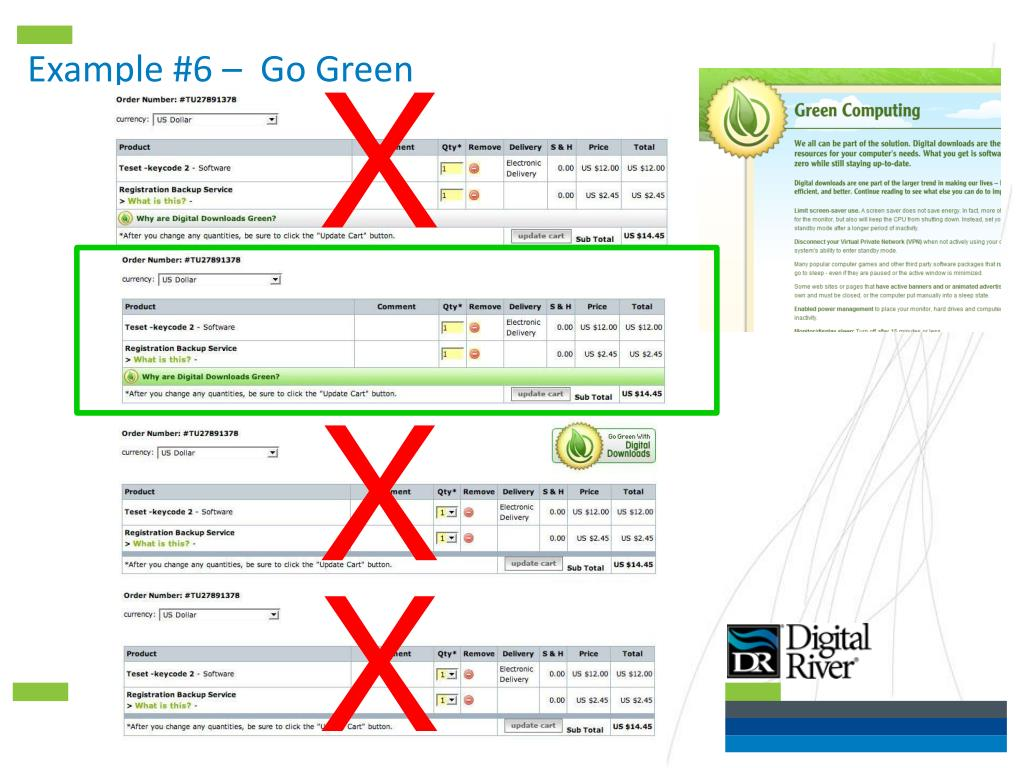 Example #6 –  Go Green
