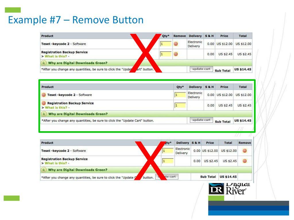 Example #7 – Remove Button