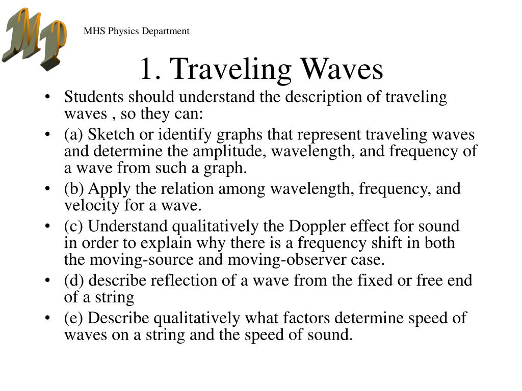 1. Traveling Waves