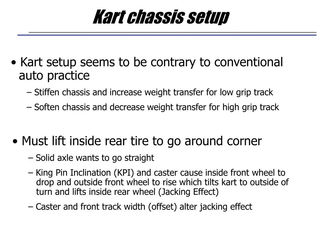Kart chassis setup