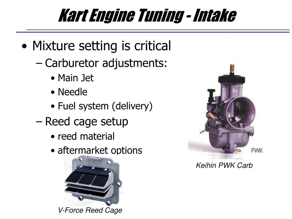 Kart Engine Tuning - Intake