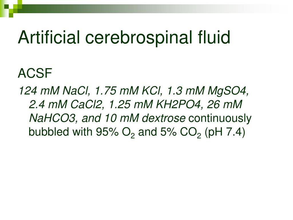 Artificial cerebrospinal fluid