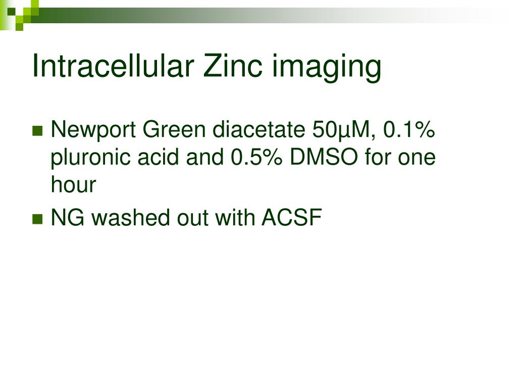 Intracellular Zinc imaging