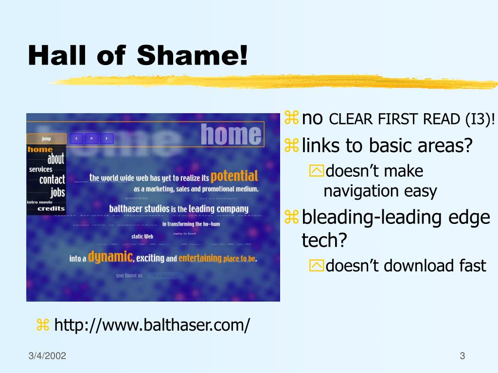 Hall of Shame!