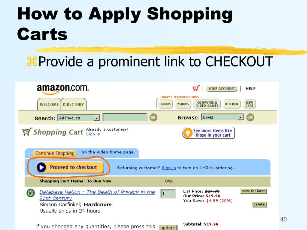 How to Apply Shopping Carts