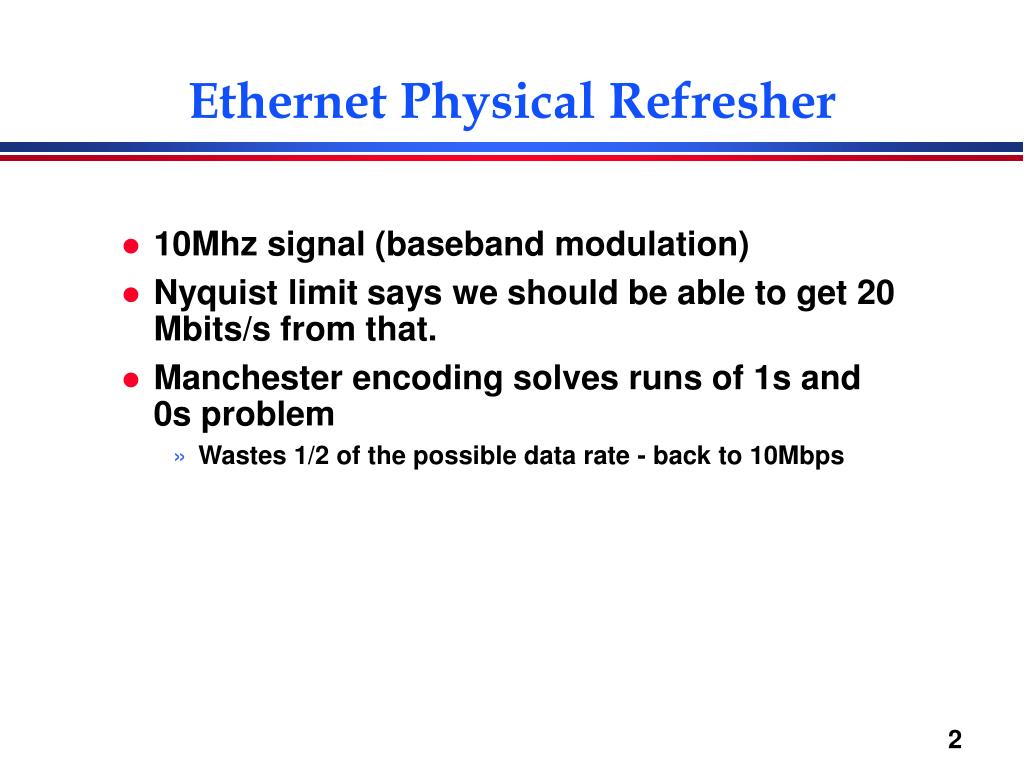 Ethernet Physical Refresher