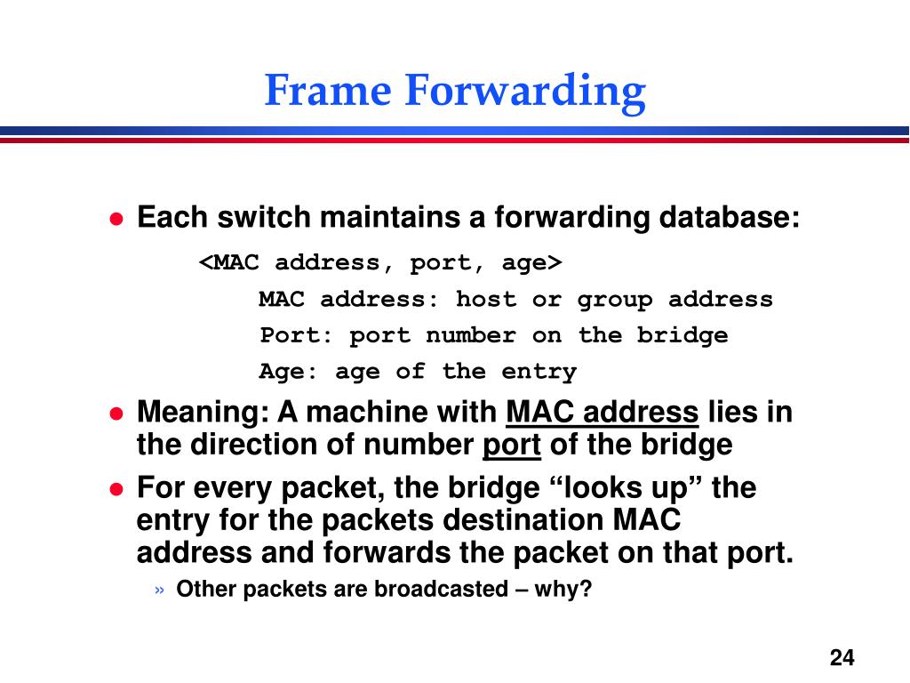 Frame Forwarding