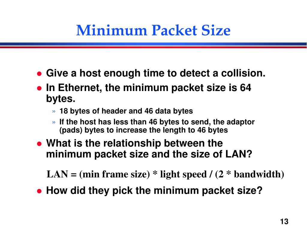 Minimum Packet Size