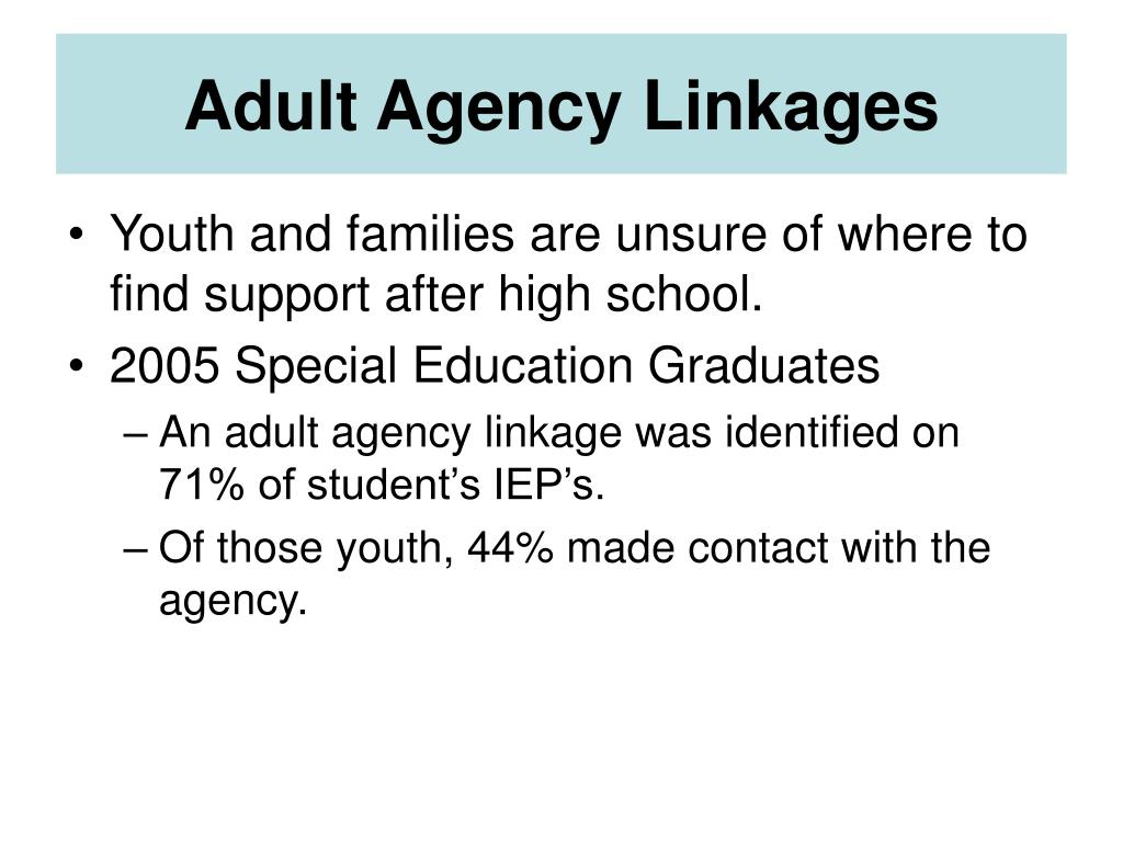 Adult Agency Linkages