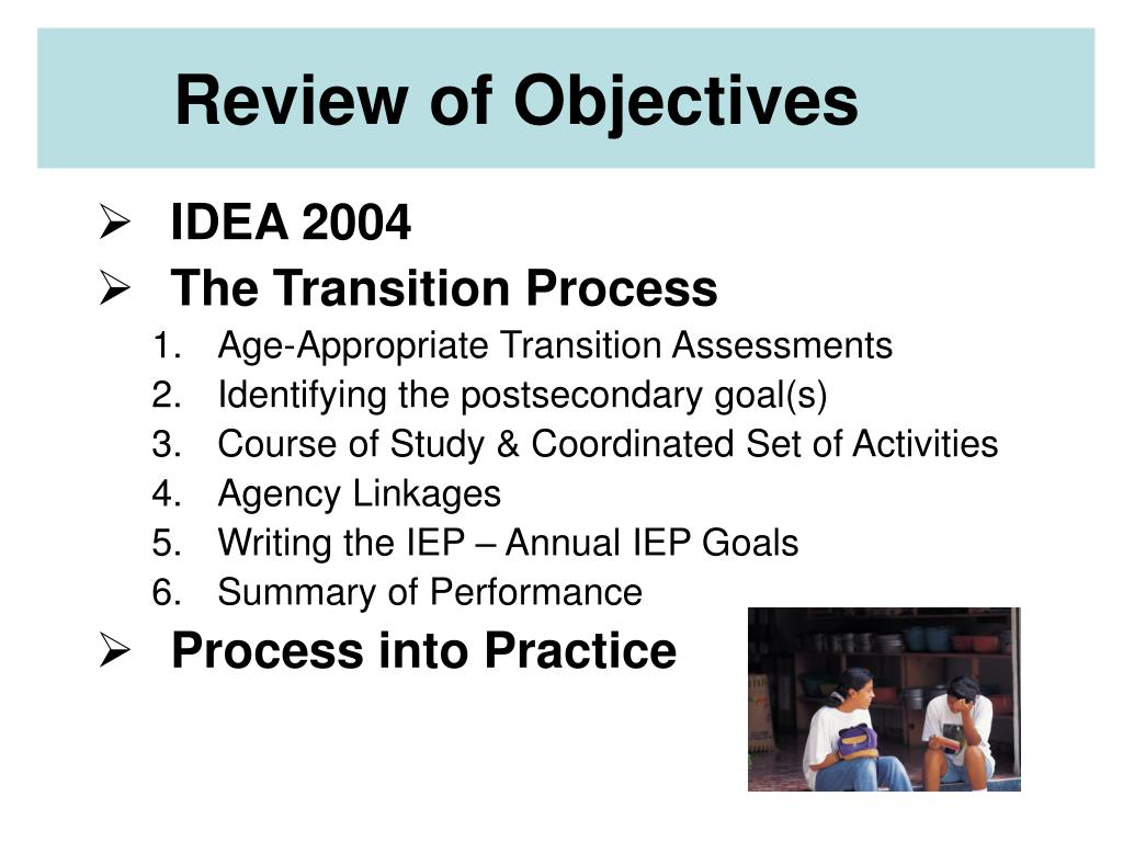 Review of Objectives
