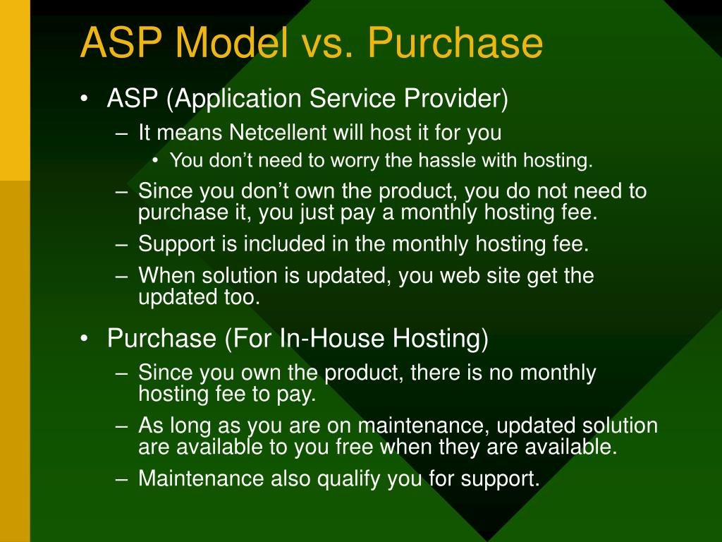 ASP Model vs. Purchase